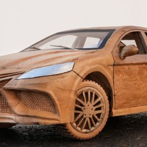 Wood Carving - Toyota Camry 2021 ASMR Woodworking, DIY Car Model by Awesome Woodcraft
