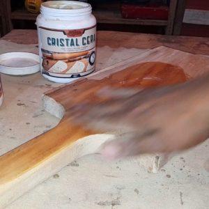 Acabamento Perfeito em Tábua (Cristal Cera)#woodworking #craft #making