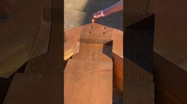Amazing Woodworking Carpenter Skills | Building Timber Frames #shorts