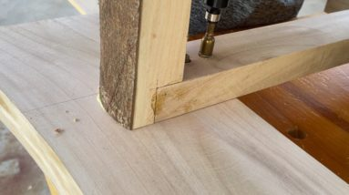 Build A Great Glass Table // Simple And Luxurious Woodworking Project
