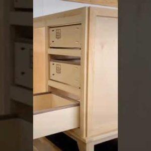 Under mount drawer box installation #shorts #woodworking #carpenter #cabinet