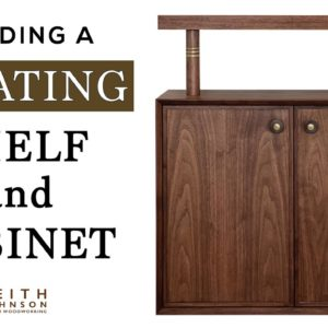 How to Build a Floating Shelf, Cabinet and Mirror // Walnut and Brass