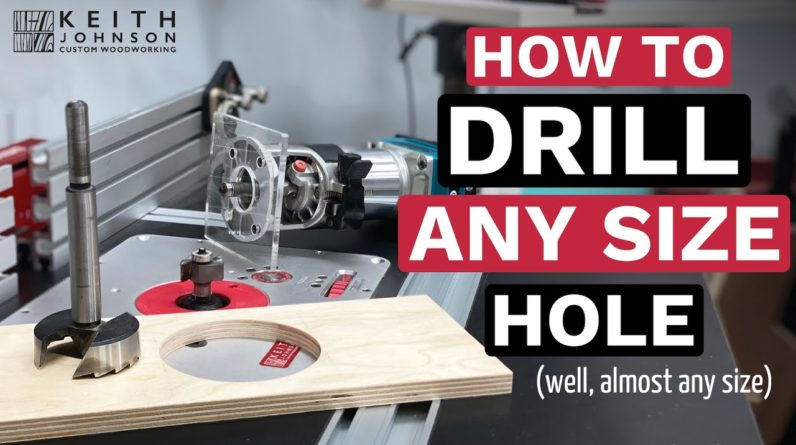 How to Drill Any Size Hole in Wood // Woodworking Tips