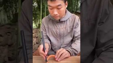 How To Make Bags From Wood - Woodworking DIY #shorts
