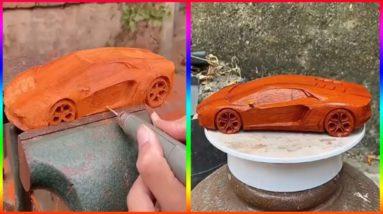 How To Make Car Lamborghini Wood......-  Woodworking DIY #shorts