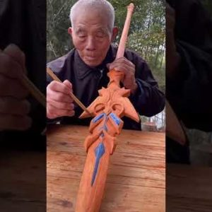 How To Make Wooden Spear For You - Woodworking DIY #shorts
