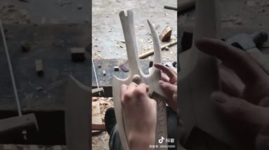 How To Make Wooden Twin Blades - Woodworking DIY #shorts