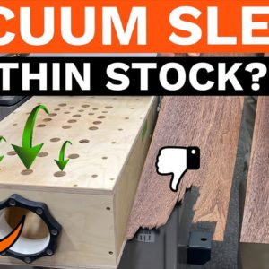 Vacuum Planer Sled for Thin Stock // Does it WORK?? // Woodworking Experiment