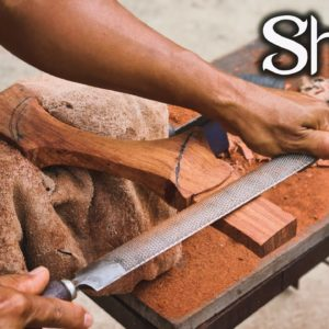 Woodworking , Making a kitchen axe handle , Craftsmanship #Shorts