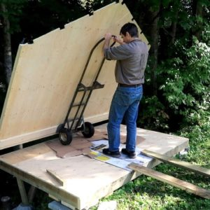 Building a shed like a plywood box