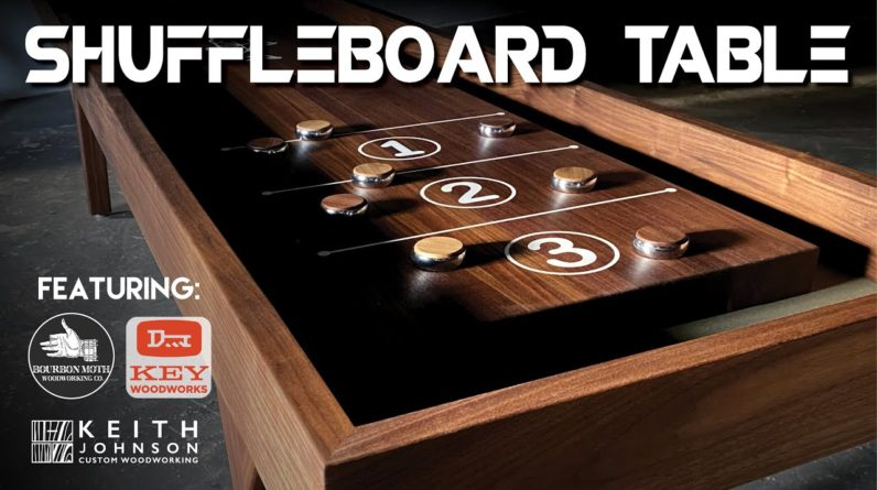 Building a ShuffleBoard Table // Gaming Table // Woodworking