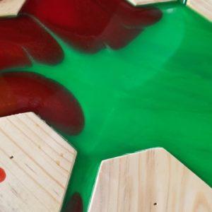 Epoxy Coated Wooden Table
