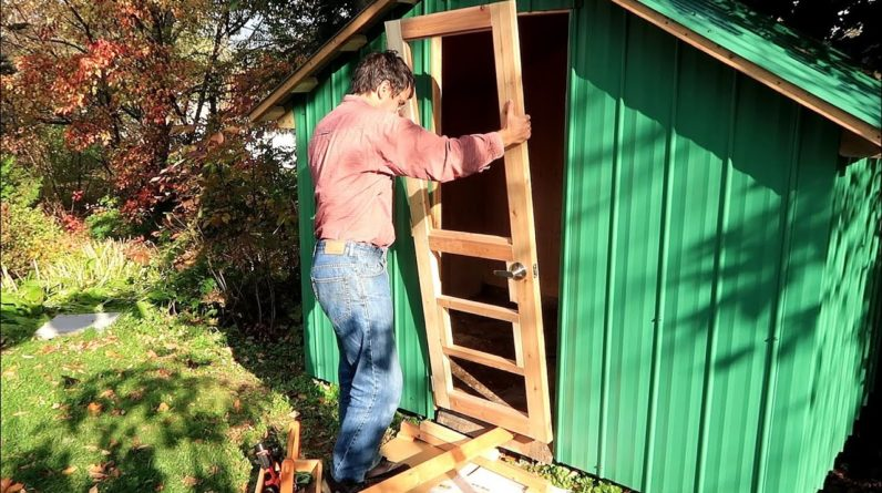 Making a flat door from twisted 2x4s