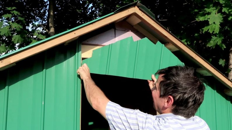 Metal roofing and siding for my shed