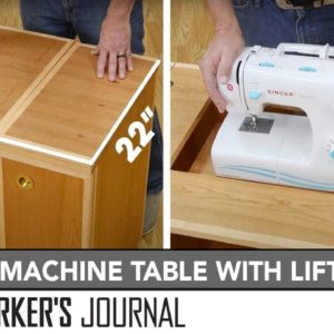 Sewing Cabinet with Sewing Machine Lift