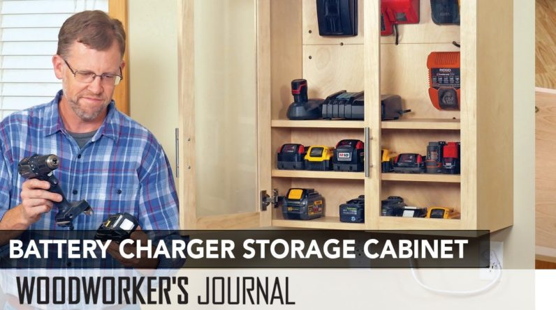 Tool Battery Charging Storage Cabinet